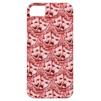 Comedy Tragedy Drama Masks, iPhone 5 Mask in Red iPhone 5 Case