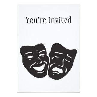 Comedy Tragedy Drama Theatre Masks Card