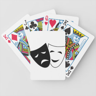 Comedy Tragedy Masks Bicycle Playing Cards