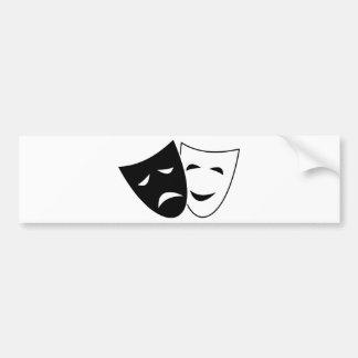 Comedy Tragedy Masks Bumper Sticker