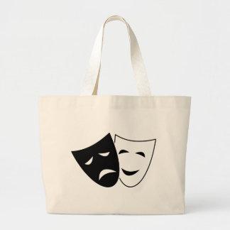 Comedy Tragedy Masks Large Tote Bag