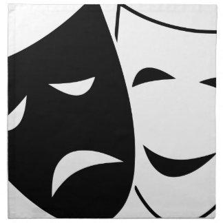 Comedy Tragedy Masks Napkin