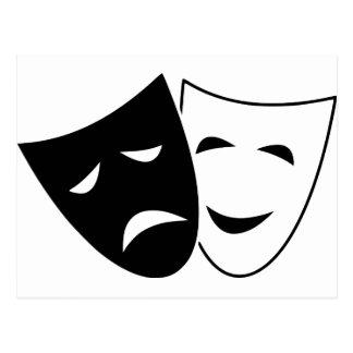 Comedy Tragedy Masks Postcard