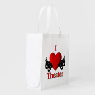 Comedy Tragedy Masks Reusable Grocery Bag