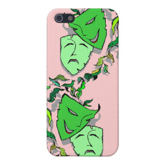 Comedy & Tragedy Masks Shadows Drama iphone 4 case
