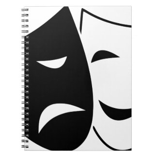 Comedy Tragedy Masks Spiral Notebook