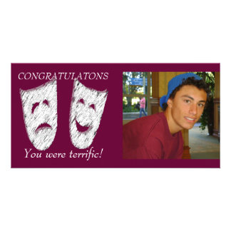 Comedy Tragedy Photo Card Template