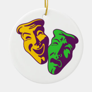 Comedy tragedy theatre comedy tragedy theatre ceramic ornament