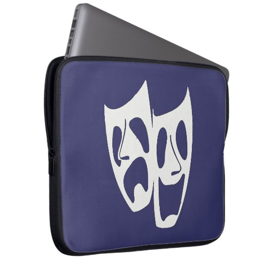 Comedy Tragedy Theatre Lovers Laptop Sleeve