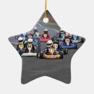 Comer cadet go karting kart race ceramic ornament