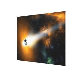 Comet descending through atmosphere gallery wrap canvas