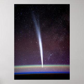 Comet Lovejoy Near Earth's Horizon Posters