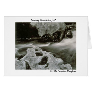 comet rocks 74, Smokey Mountains, NC,  1974 Ca... Card