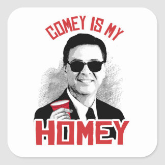COMEY IS MY HOMEY - -  SQUARE STICKER