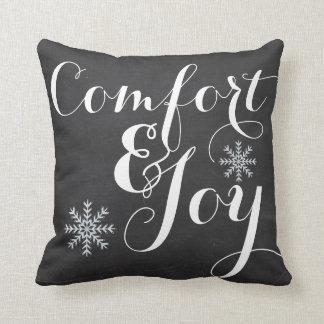 Comfort and Joy Chalkboard Cushion