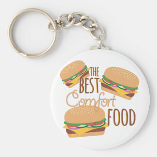 Comfort Food Basic Round Button Key Ring