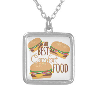 Comfort Food Silver Plated Necklace