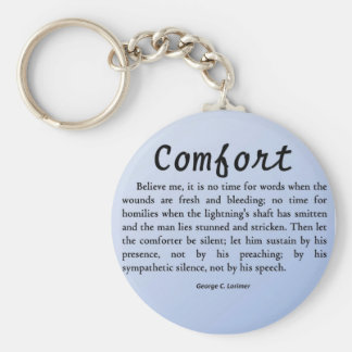 Comfort in Silence Keychains
