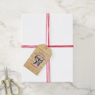 Comfort & Joy Gift Tag