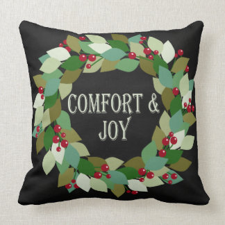 Comfort & Joy | Holiday Wreath Cushion