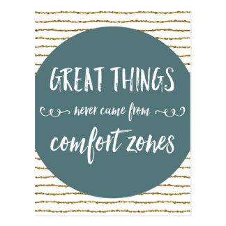 Comfort Zones Quote Postcard