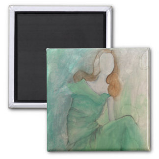 Comfortable in Her Skin-Magnet Square Magnet