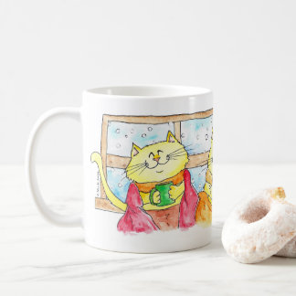 Comfy Cats in Winter MUG by Nicole Janes