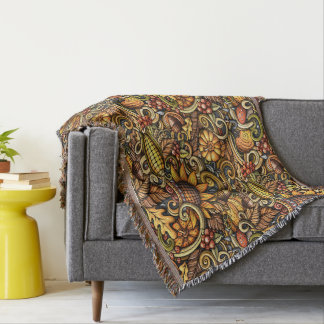 Comfy Rustic Sunflower Throw