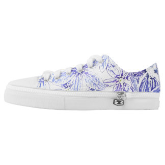 Comfy shoes with blue flowers