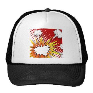 Comic balloon trucker hat