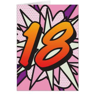 Comic Book 18 Pink Greeting Card