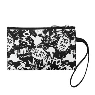 Comic book actions coin purse