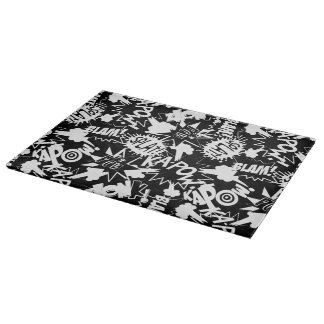 Comic book actions cutting board