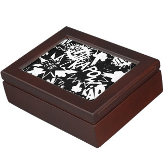 Comic book actions keepsake box