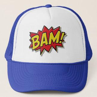 comic book bam! trucker hat