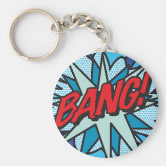 Comic Book BANG! key ring