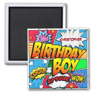 Comic Book Birthday Party Custom Magnet