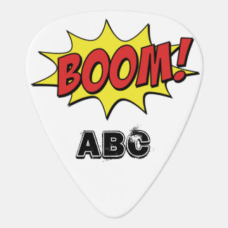 Comic Book Boom! with Custom Initials Plectrum