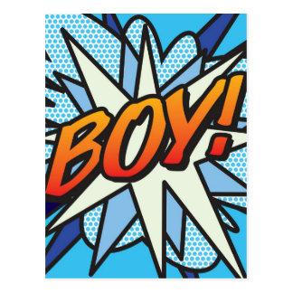 Comic Book BOY! Postcard