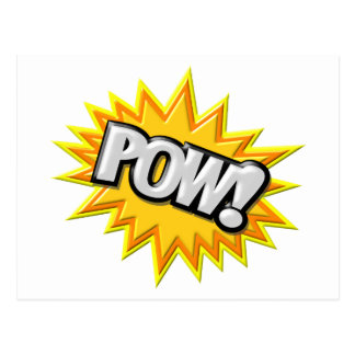 Comic Book Burst Pow 3D Postcard