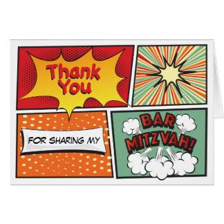 COMIC BOOK FANTASY Bar Mitzvah Thank You Card