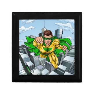 Comic Book Flying Superhero City Gift Box