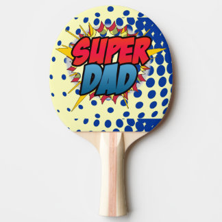 Comic Book Inspired Super Dad Ping Pong Paddle