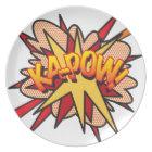 Comic Book KA-POW! Plate