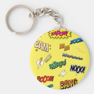 Comic Book Key Ring