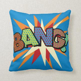 Comic Book Pop Art BANG! KA-POW! Throw Pillow