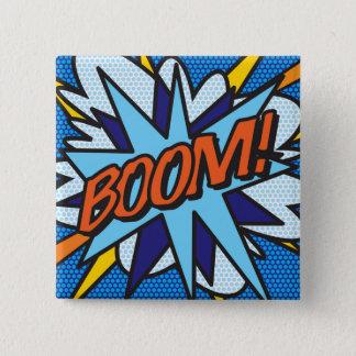 Comic Book Pop Art BOOM! 15 Cm Square Badge