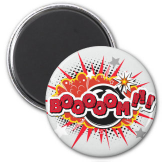 Comic Book Pop Art Boom Explosion Magnet