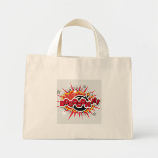 Comic Book Pop Art Boom Explosion Mini Tote Bag