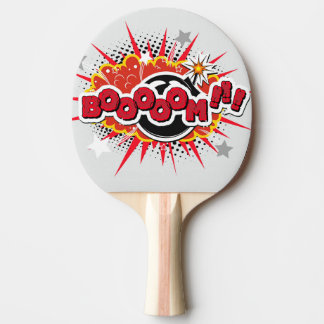 Comic Book Pop Art Boom Explosion Ping Pong Paddle